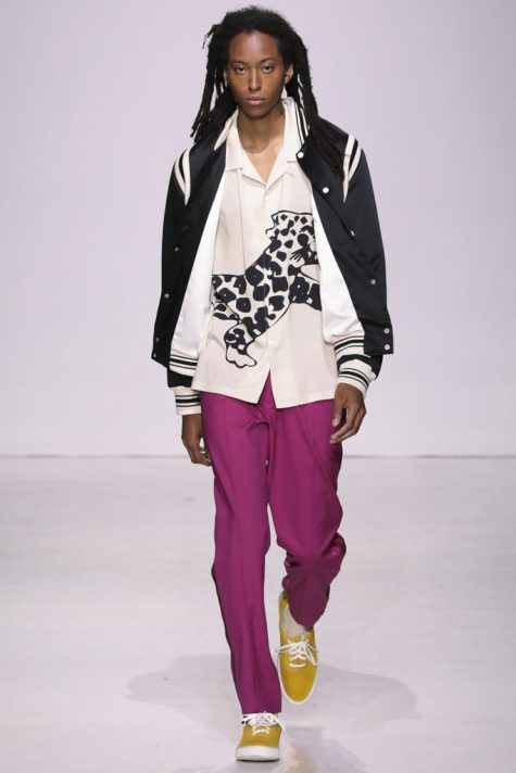 Ovadia & Sons SS18 Collection. Male model walking the catwalk at